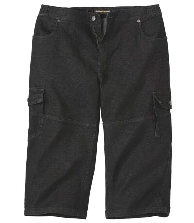 ¾-Cargo-Jeans Stretch-Komfort