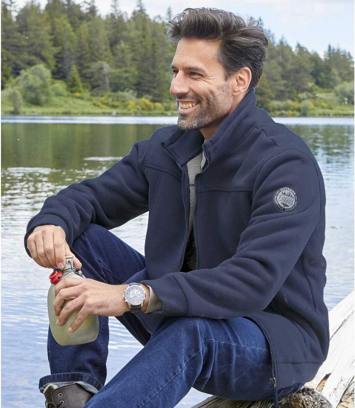 Winter polár & sherpa cipzáras pulóver Atlas For Men