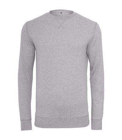Build Your Brand Mens Plain Light Crewneck Sweater (Heather Grey) - UTRW5682