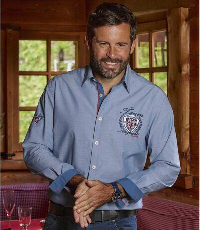 Winch & Wheel overhemd van Chambray