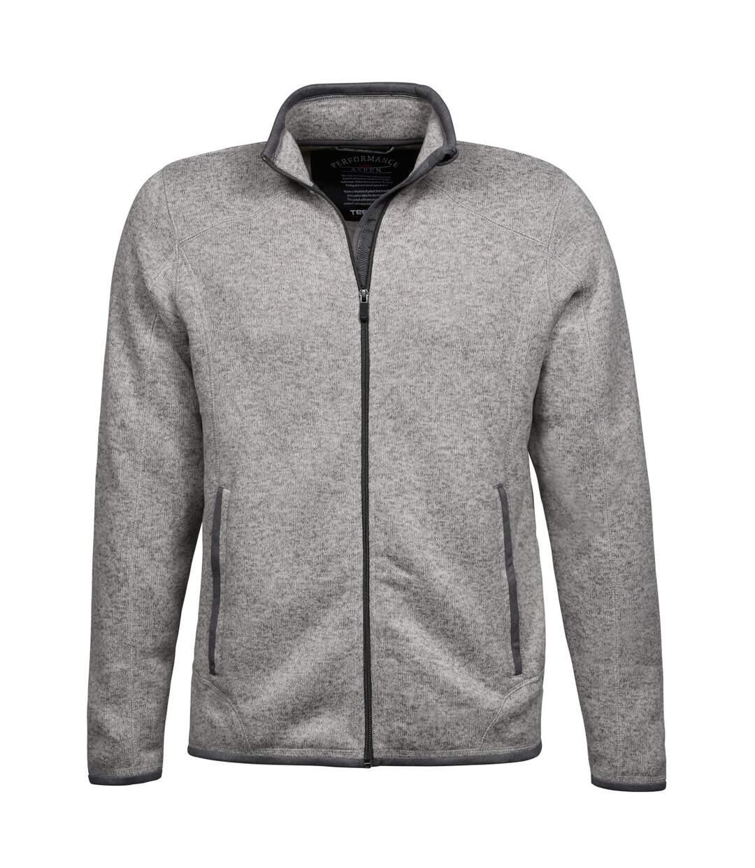 Tee Jays Mens Aspen Full Zip Jacket (Grey Melange) - UTBC3332