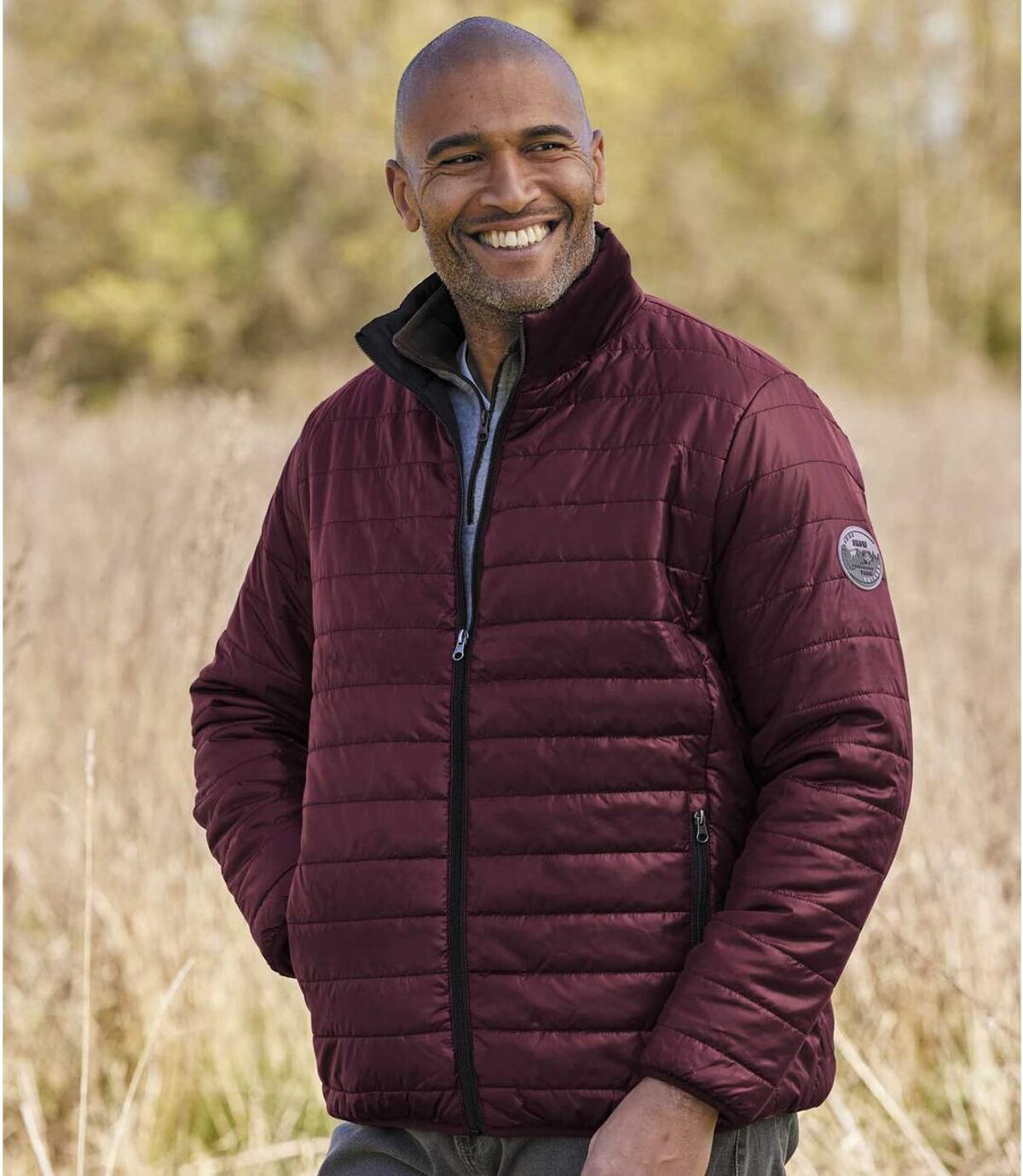 Men's Lightweight Mountain Puffer Jacket - Burgundy Atlas For Men