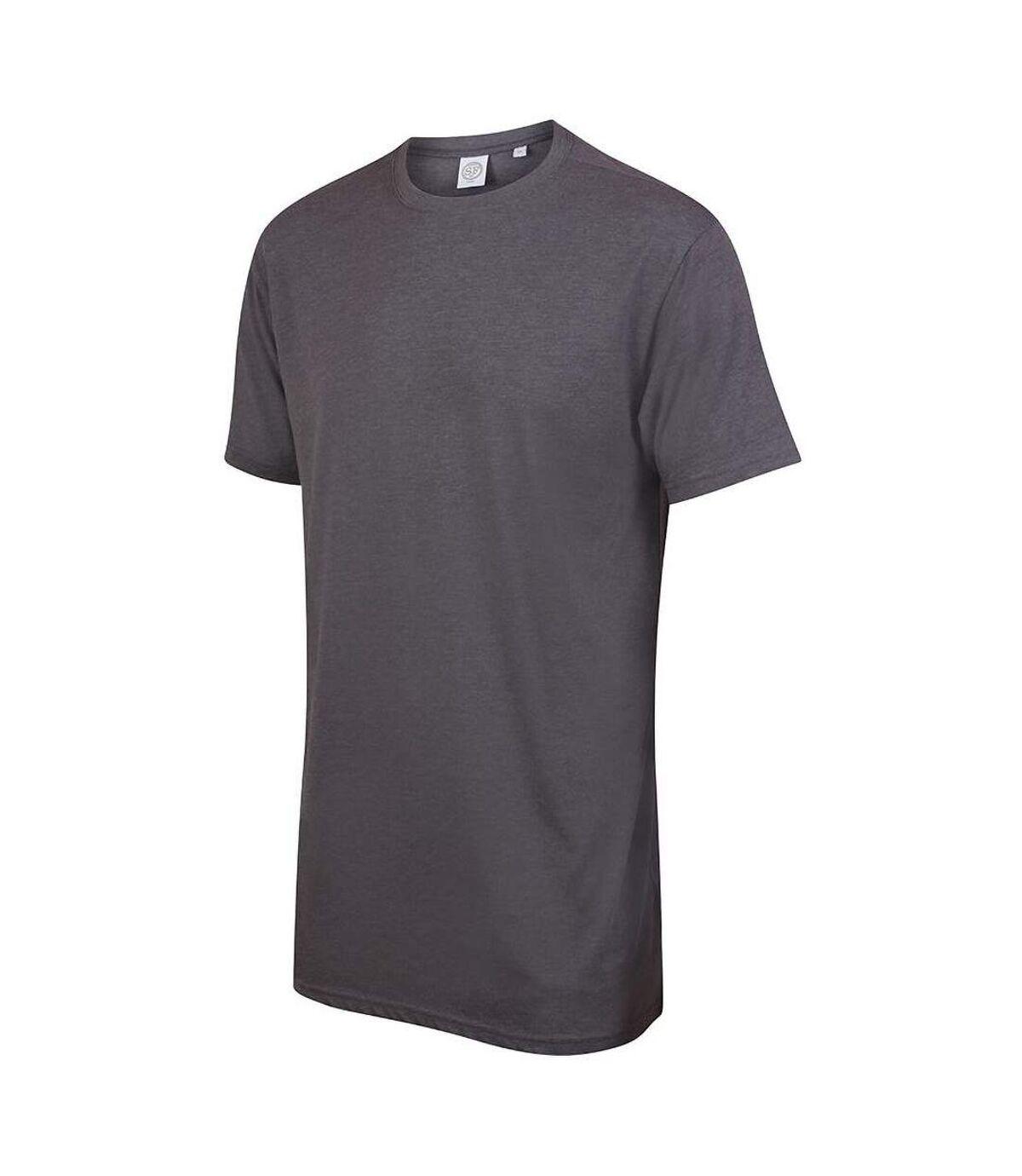 Skinnifit - T-shirt à manches courtes - Homme (Gris foncé chiné) - UTRW5293