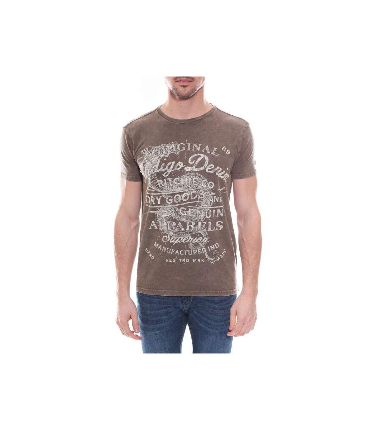T-shirt col rond en coton NIGERS - RITCHIE