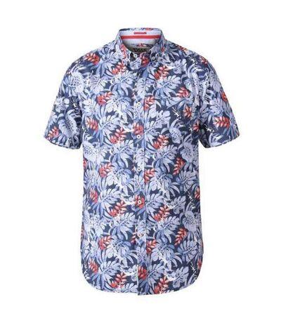 Duke Mens Malibu D555 Hawaiian Short Sleeve Shirt (Blue) - UTDC273