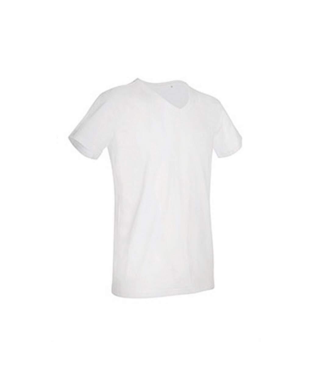 Stedman Mens Ben V Neck Tee (White) - UTAB356