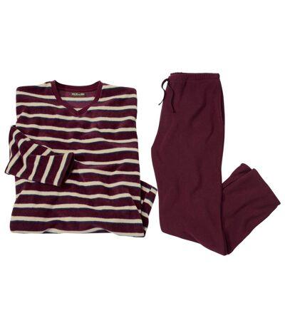Gestreifter Schlafanzug aus Microfleece