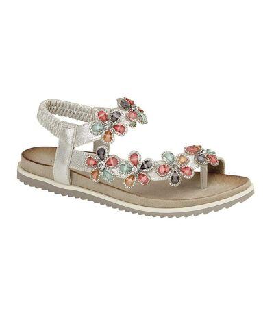 Cipriata Womens/Ladies Marcia Sandals (Silver Shimmer) - UTDF1555