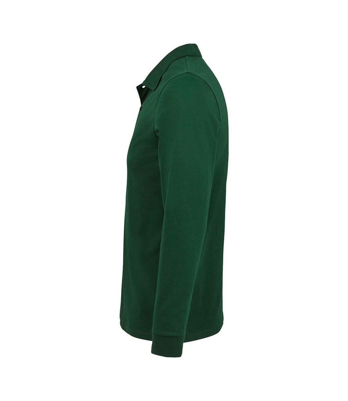 SOLS Mens Perfect Long Sleeve Piqu Polo Shirt (Bottle Green) - UTPC4078