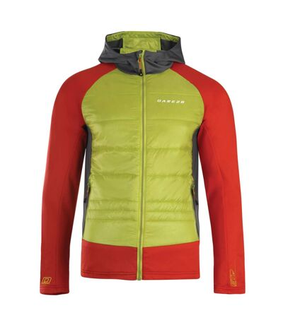 Dare 2B Mens Inlay Hybrid Jacket (Lime Punch/Danger Red) - UTRG3350