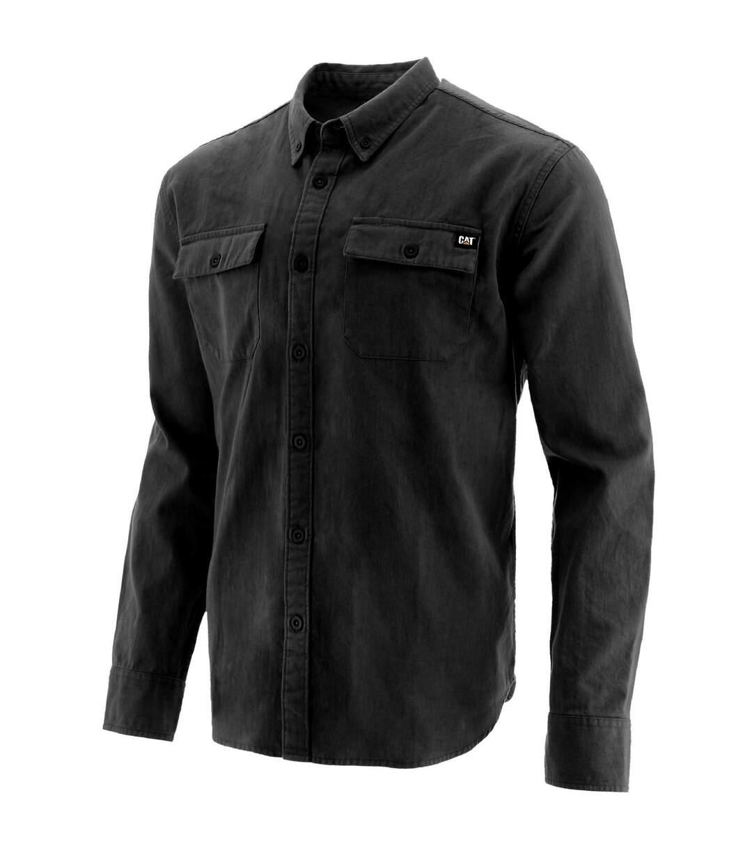 Caterpillar Mens Button Up Long Sleeve Shirt (Black) - UTFS6670