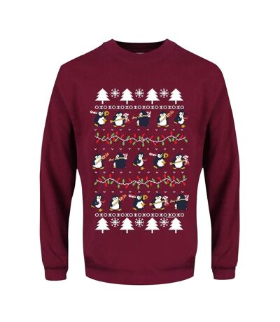 Psycho Penguin Pull de Noël pour hommes Seasonal Cheer (Bordeaux) - UTGR2783