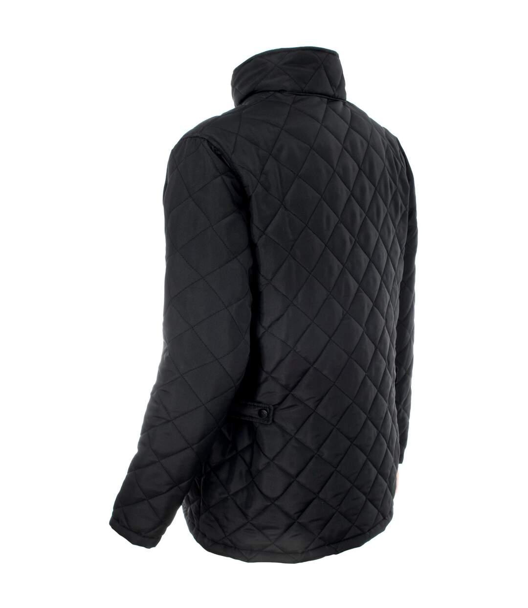 Trespass Mens Argyle Quilted Jacket (Black) - UTTP841