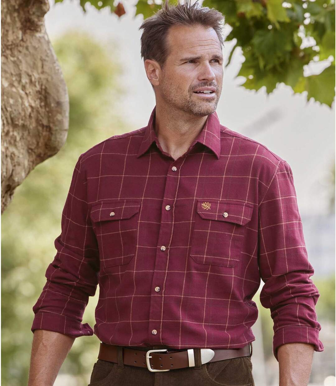 Kostkovaná flanelová košile Atlas Atlas For Men