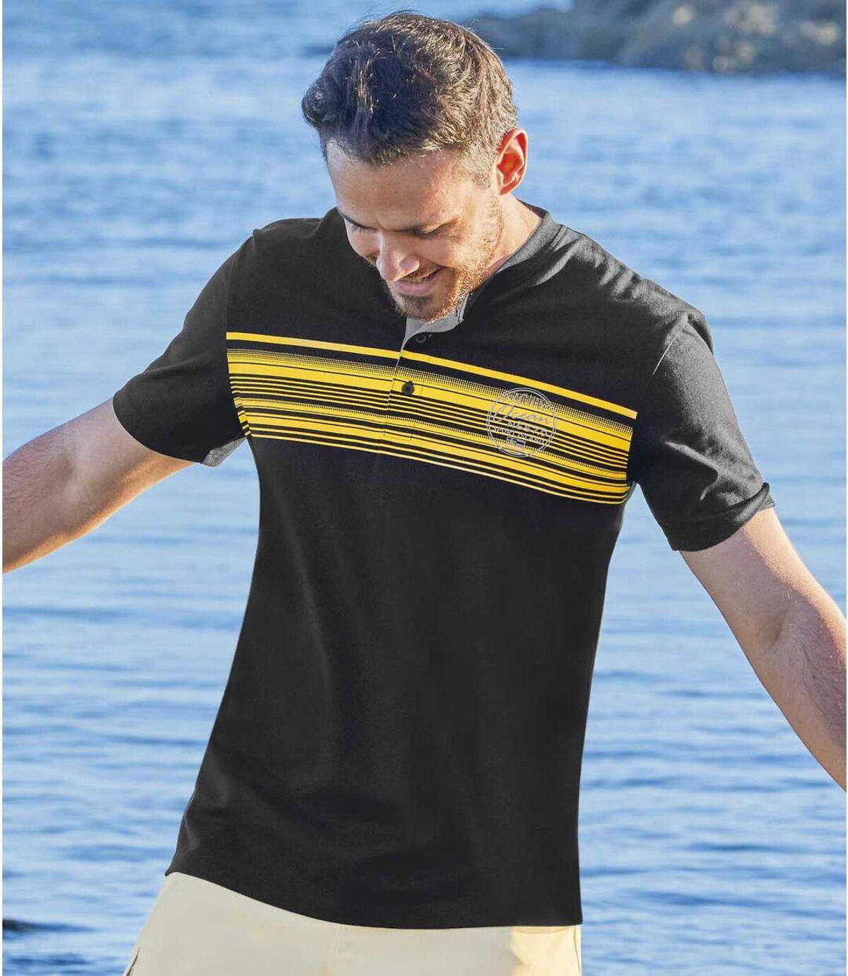 Zestaw 3 t-shirtów z dekoltem z guzikami Pacific Summer Atlas For Men