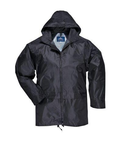 Portwest Mens Classic Rain Jacket (S440) (Black) - UTRW1022