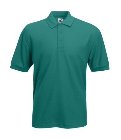 Fruit Of The Loom Mens 65/35 Pique Short Sleeve Polo Shirt (Emerald) - UTBC388