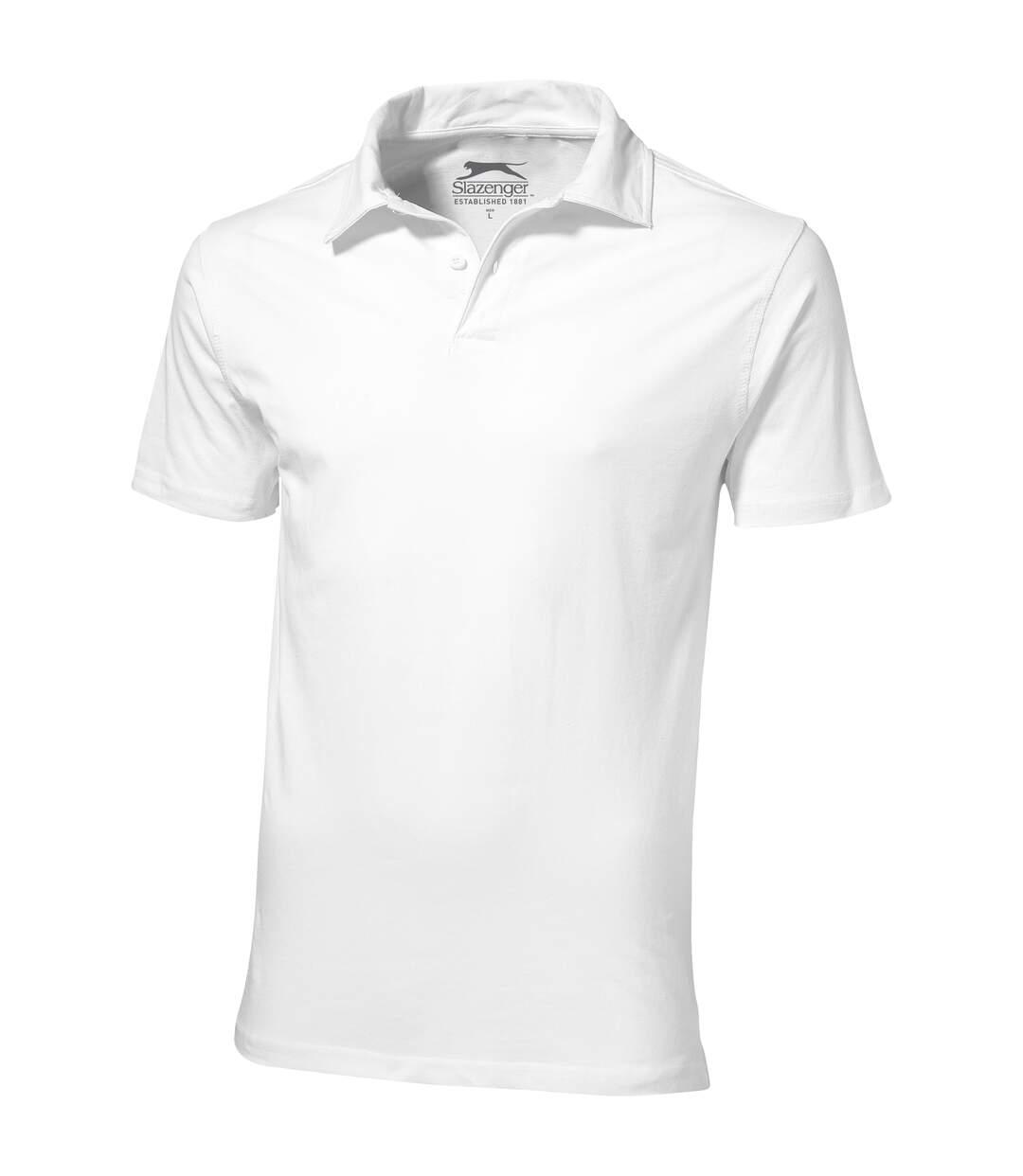 Slazenger Mens Let Short Sleeve Polo (White) - UTPF1740