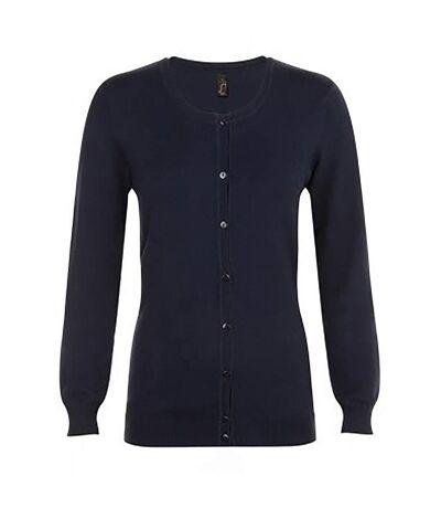 SOLS Griffith - Cardigan manches longues à col V - Femme (Bleu marine) - UTPC2786