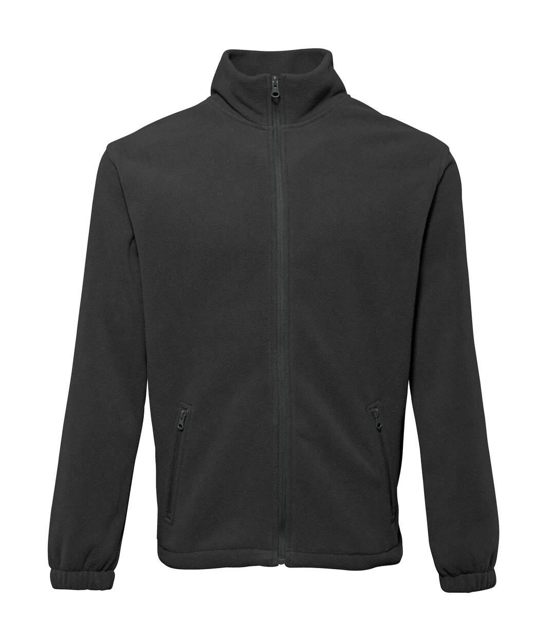 2786 Mens Full Zip Fleece Jacket (280 GSM) (Black) - UTRW2506