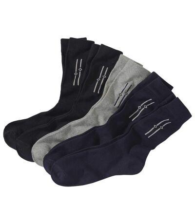 5 pár Jacquard zokniból álló szett