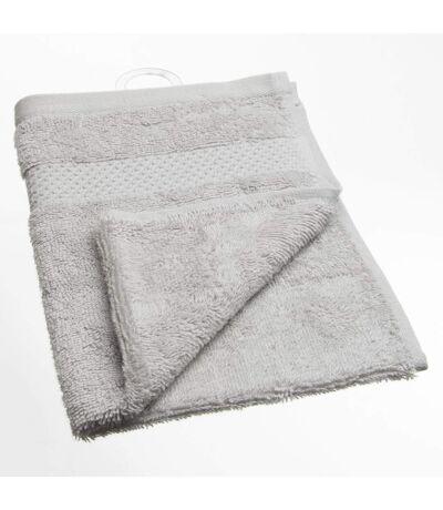 Serviette de toilette Coton peigné - 50 x 30 cm. - Gris clair