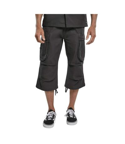Pantacourt cargo gris anthracite multipoches homme