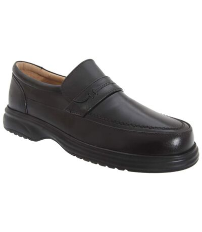 Roamers Mens Leather Mudguard Tab Casual Shoes (Black) - UTDF720