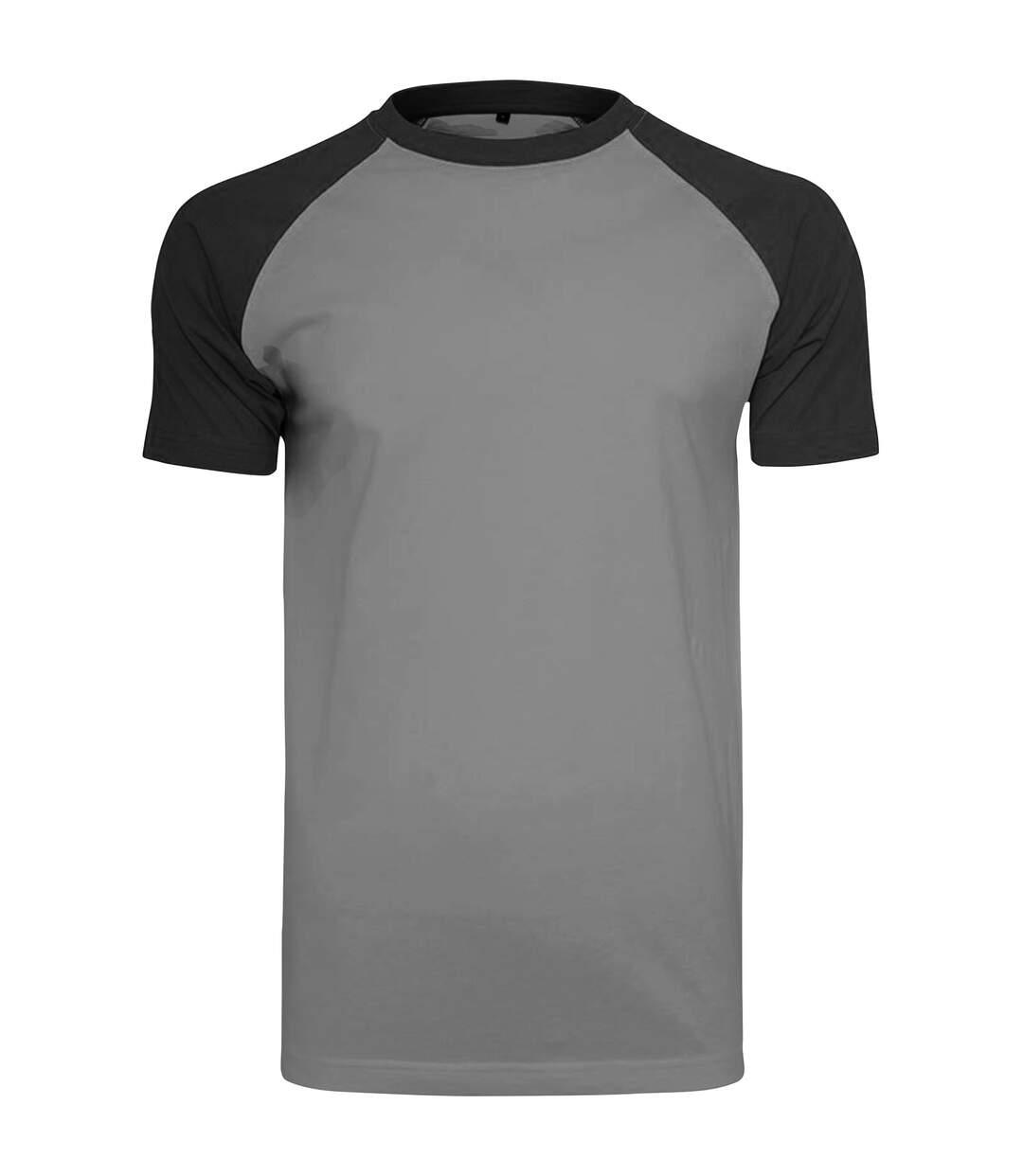 Build Your Brand Mens Raglan Contrast Short Sleeve T-Shirt (Charcoal/Black) - UTRW5683