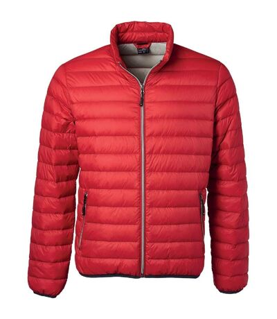 Veste doudoune matelassée duvet - JN1140 - rouge - Homme