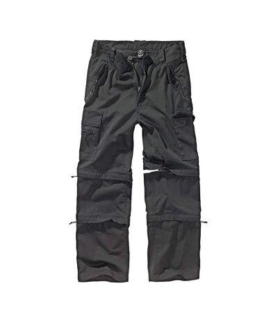 Pantalon détachable en 3 fonction short pantacourt cargo noir homme