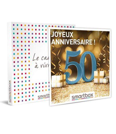 SMARTBOX - Joyeux anniversaire ! Pour homme 50 ans - Coffret Cadeau Multi-thèmes