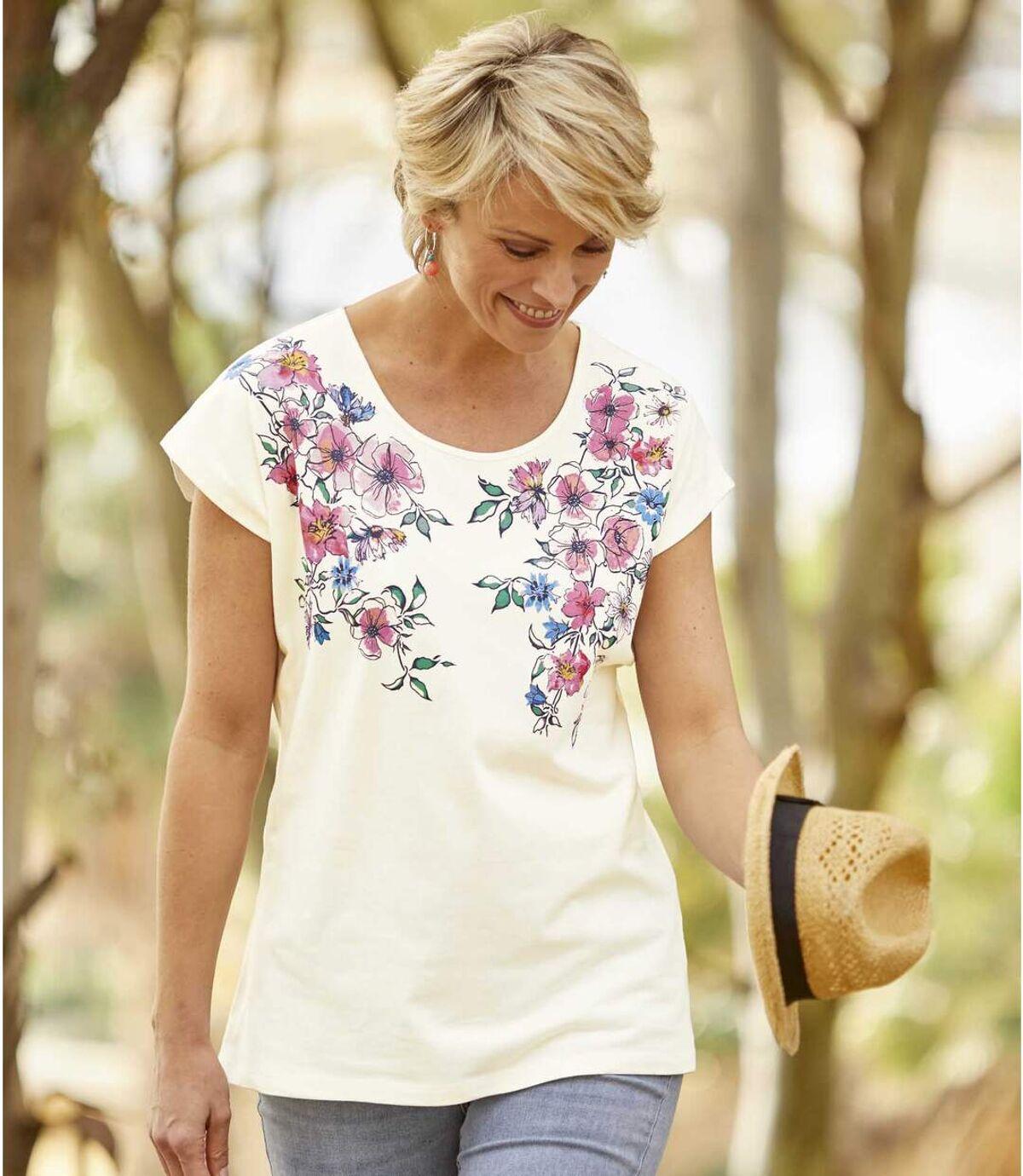 T-Shirt mit Blumendekor Atlas For Men