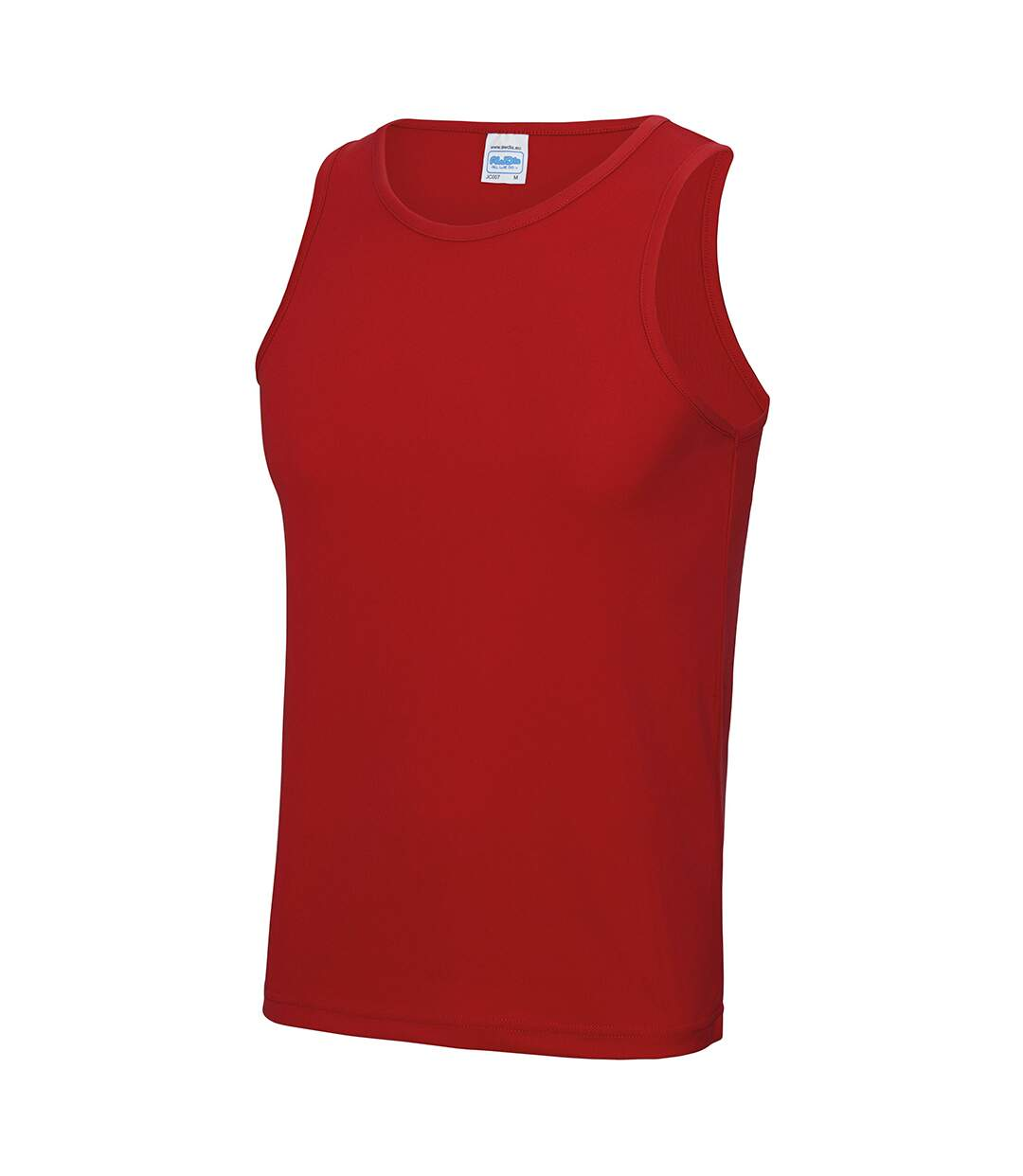 AWDis Just Cool Mens Sports Gym Plain Tank / Vest Top (Jet Black) - UTRW687