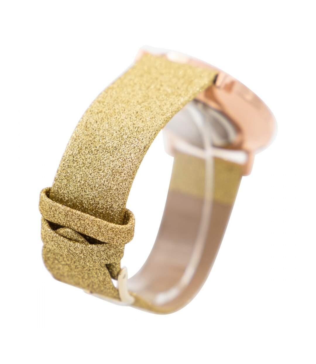 Montre Femme M. JOHN bracelet Cuir Doré