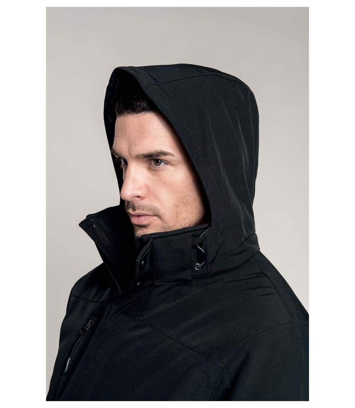 Parka softshell matelassée à capuche - K650 - homme - noir