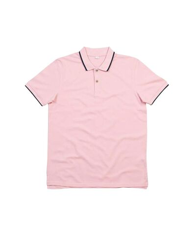 Mantis Mens The Tipped Polo Shirt (Soft Pink/Navy) - UTPC3672