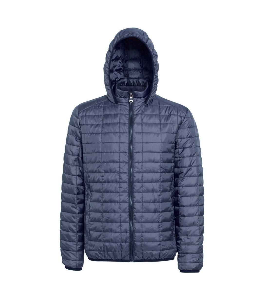 2786 Mens Honeycomb Padded Hooded Jacket (Black) - UTRW5018