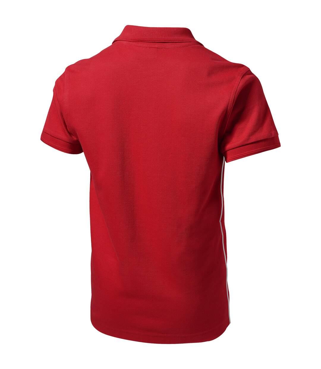 Slazenger Mens Backhand Short Sleeve Polo (Red) - UTPF1734