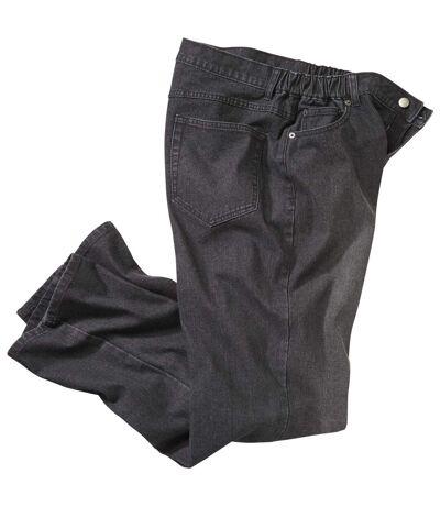 Jean Noir Stretch Taille Semi-Elastiquée