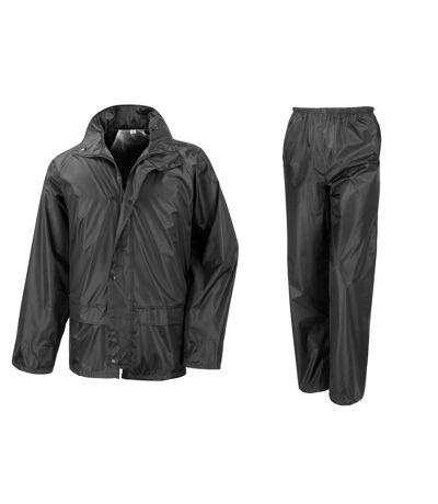 Result Core - Ensemble veste et pantalon imperméables coupe-vent - Homme (Noir) (L) - UTBC916