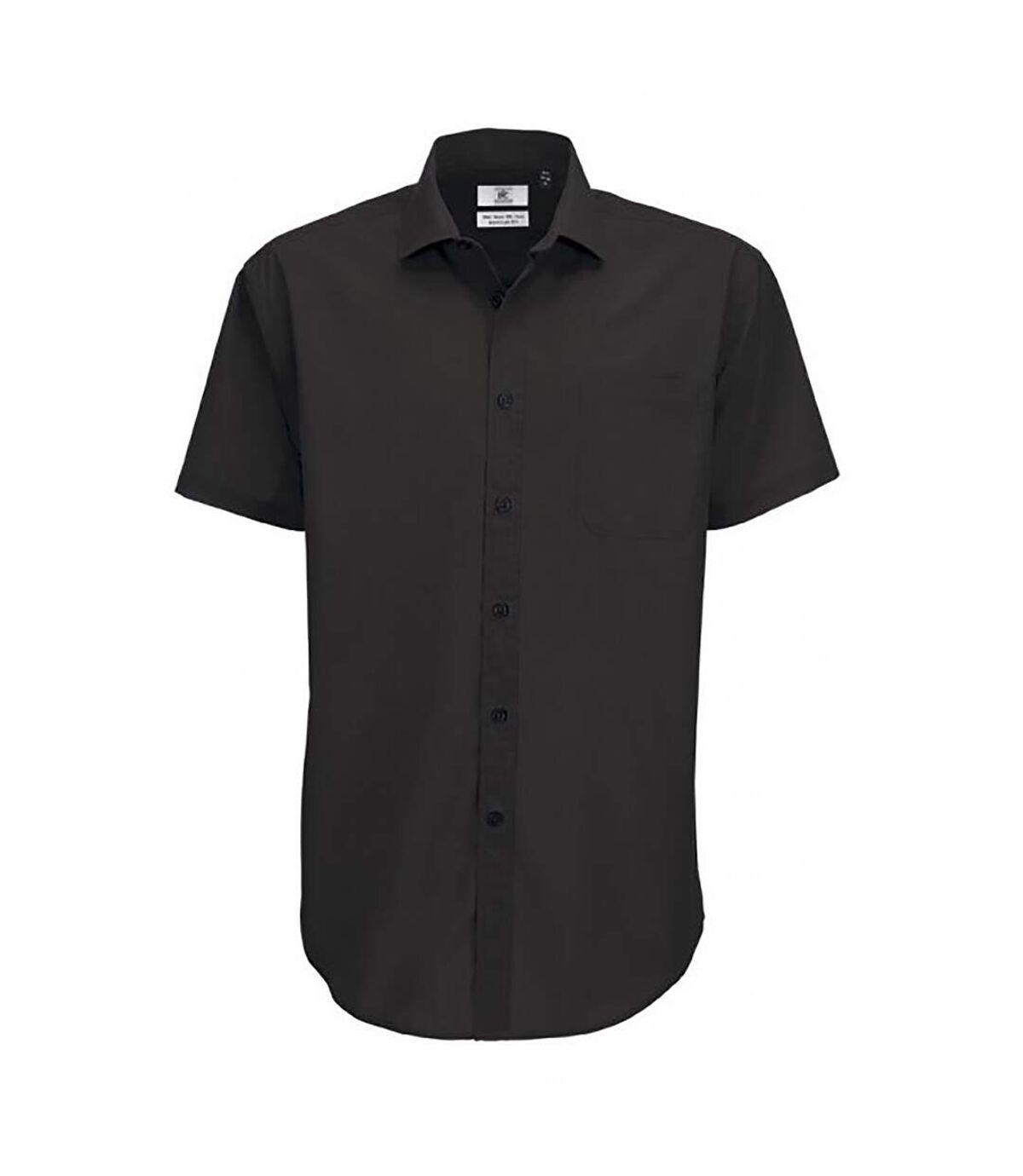 B&C Mens Smart Short Sleeve Shirt / Mens Shirts (Navy Blue) - UTBC112