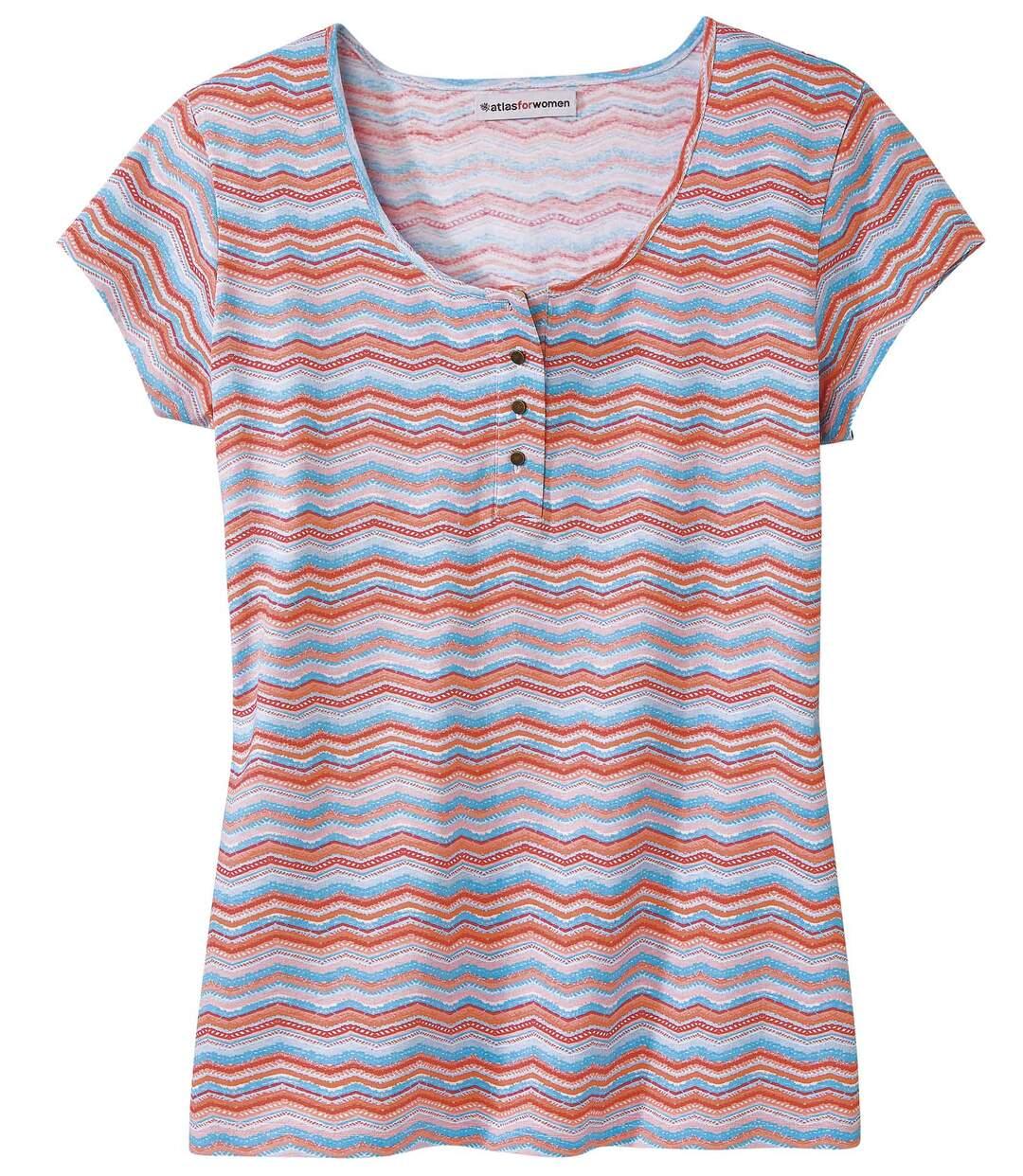 T-Shirt mit Henleykragen
