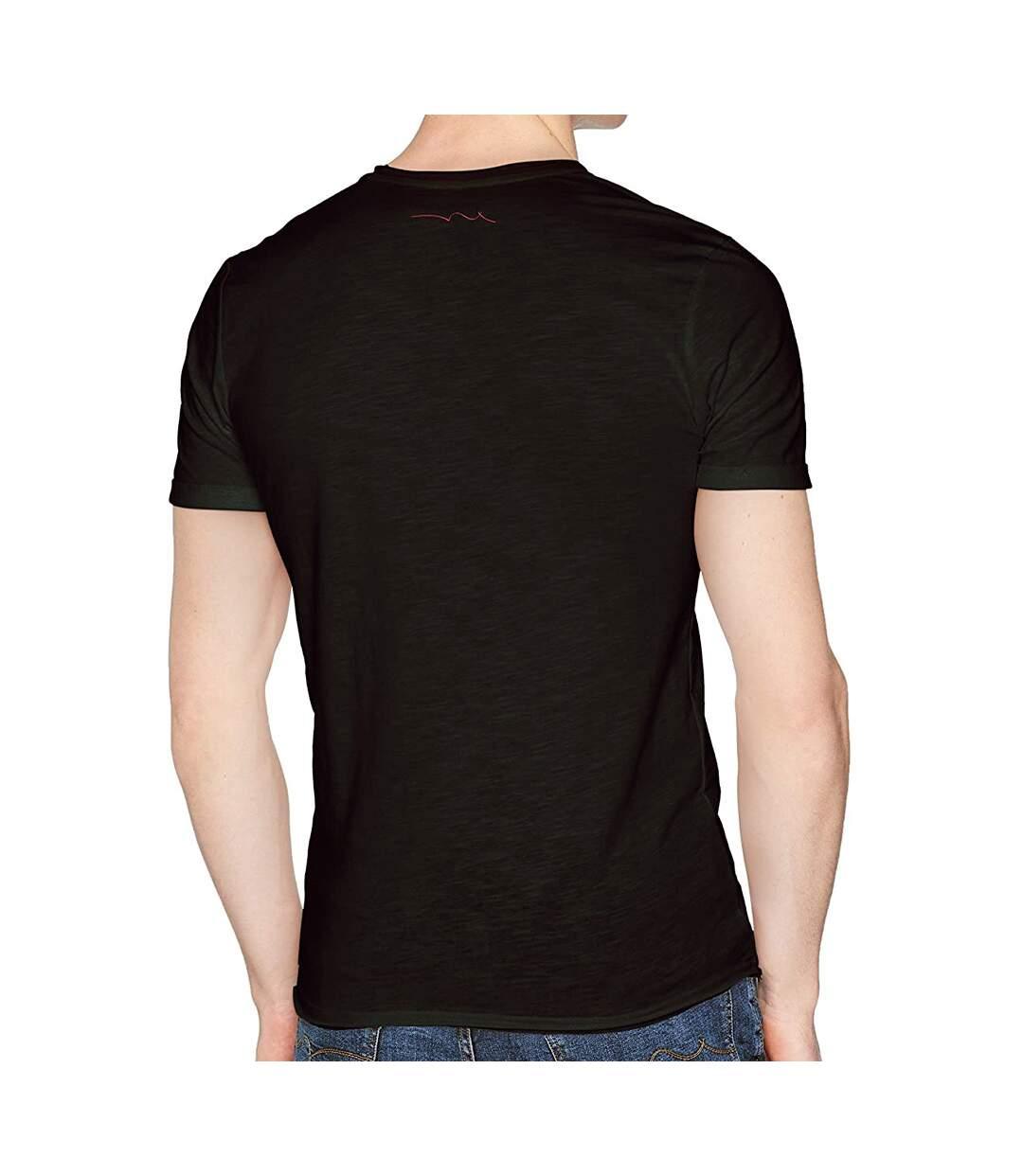 T-shirt Noir Homme Teddy Smith Turos