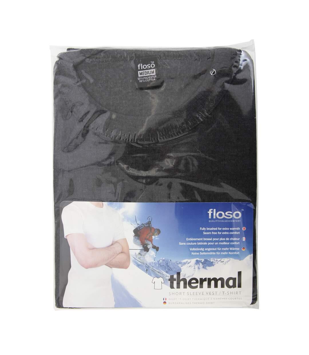 FLOSO - T-shirt thermique à manches courtes (standard) - Homme (Charbon) - UTTHERM111