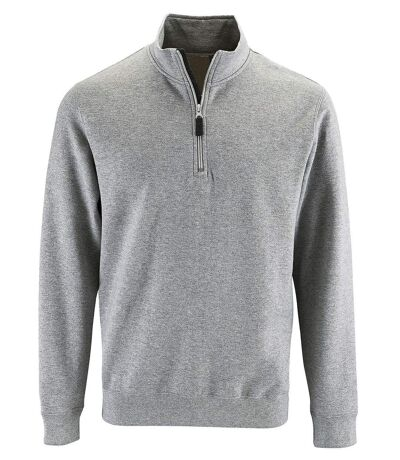 Sweat-shirt col camionneur - 02088 - gris chiné