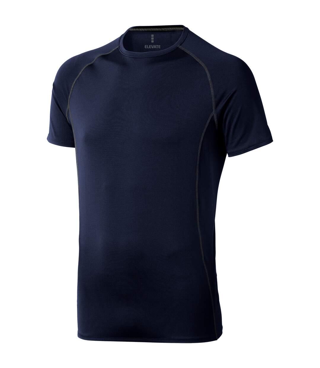 Elevate - T-Shirt Manches Courtes Kingston - Homme (Bleu marine) - UTPF1880