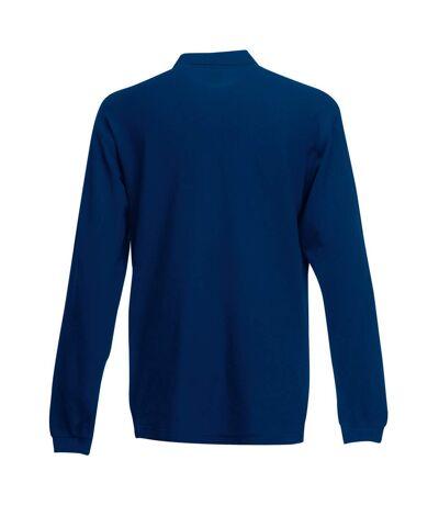 Fruit Of The Loom Mens Premium Long Sleeve Polo Shirt (Navy) - UTBC1383