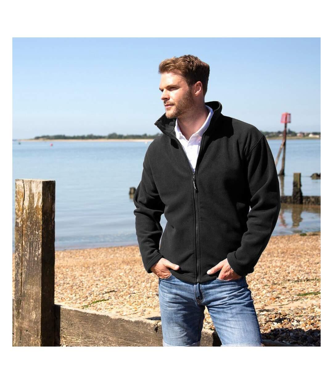 Result Mens High Grade Microfleece Horizon Showerproof Breathable Jacket (Black) - UTBC854