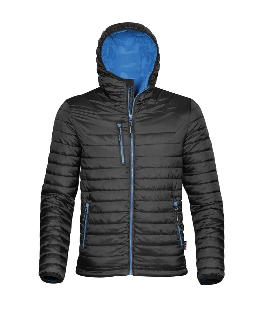 Stormtech Mens Gravity Hooded Thermal Winter Jacket (Durable Water Resistant) (Black/Marine Blue) - UTBC3064